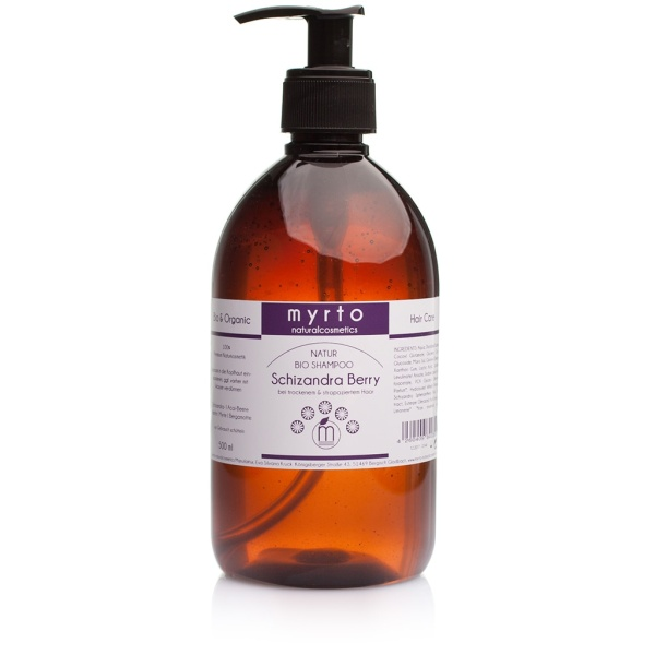 Schizandra Berry Organic Shampoo 500ml storage bottle